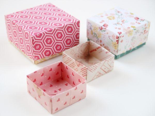 Caixinha de origami fácil de fazer pode também ser uma fonte de renda extra, se você comercializá-la (Foto: gatheringbeauty.com)