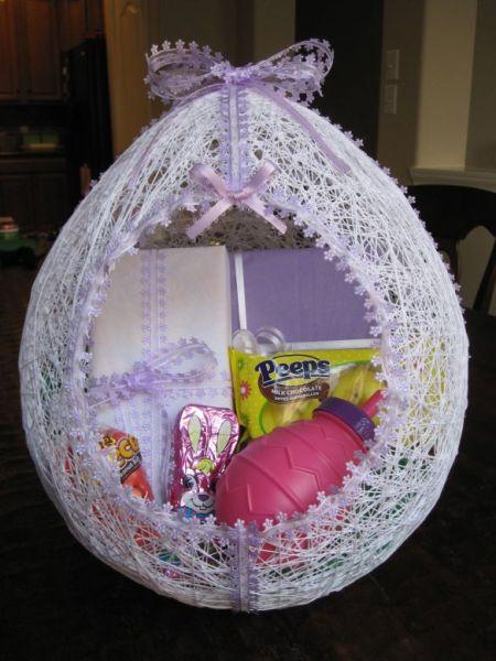 Esta cesta de Páscoa diferente pode ter várias cores (Foto: hmhdesigns.wordpress.com)