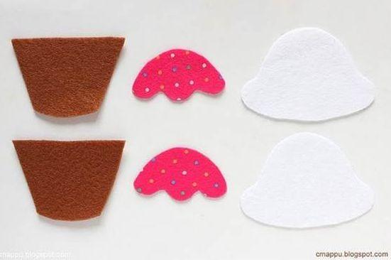 Chaveiro De Feltro Cupcake Passo A Passo Artesanato Passo A Passo