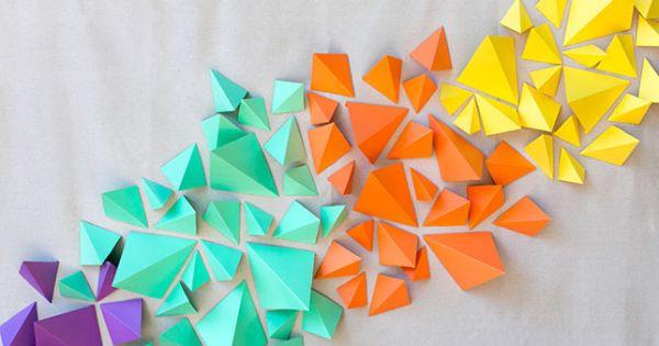 Painel geométrico é lindo e decora casas e festas (Foto: greenweddingshoes.com)