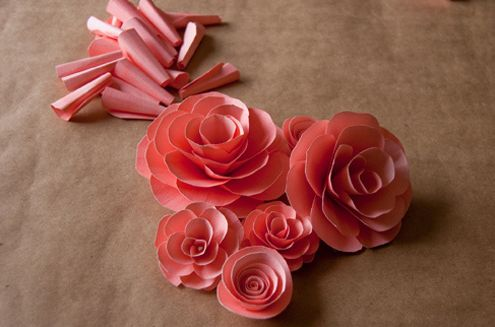 Flores de papel para centro de mesa passo a passo - Centros de mesa de papel ...