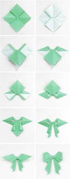 Artesanato Dos Estados Unidos ~ Laço de Origami Passo a Passo Artesanato Passo a Passo!