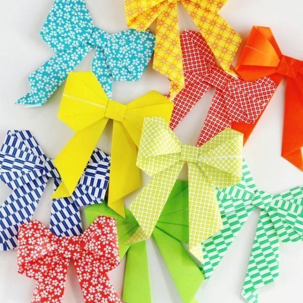Aparador De Sala Magazine Luiza ~ Laço de Origami Passo a Passo Artesanato Passo a Passo!