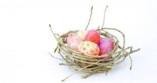 Decore a sua casa de forma singela, mas linda, com ninho de ovinhos de Páscoa (Foto: makeanddocrew.com)
