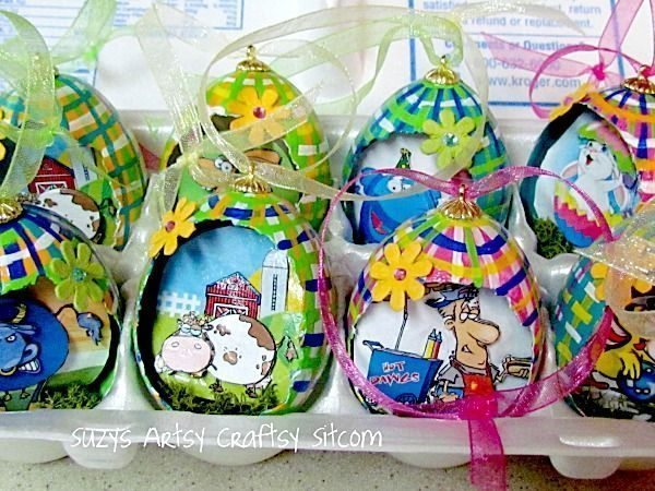 Faça vários destes simpáticos ovinhos decorativos para Páscoa (Foto: suzyssitcom.com)