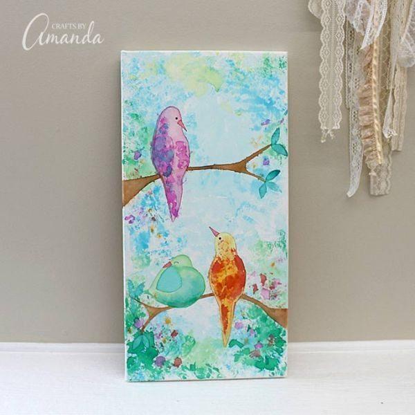 Este quadro de pássaros é lindo (Foto: craftsbyamanda.com)