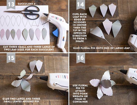 Aprenda a fazer esses 4 tipos de suculentas de papel para sua decoração