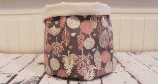 Cesto de tecido é lindo e prático (Foto: ru.decoracion2.com)