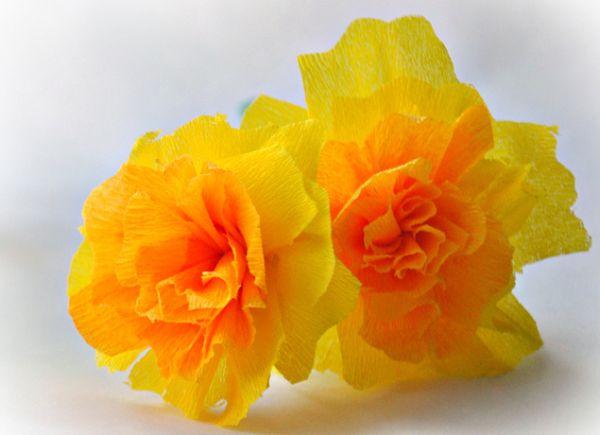 Flores de papel crepom são lindas e podem ter várias combinações de cores (Foto: srebrnaagrafka.pl)