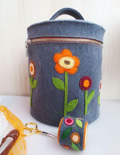Frasqueira de feltro é funcional e ainda pode decorar os seus cantinhos (Foto: handmadiya.com)