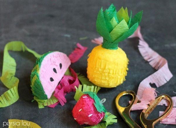 Frutas com papel crepom são lindas e não difíceis de serem conseguidas (Foto: persialou.com)