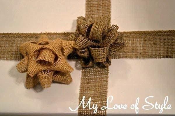Laço de flor de juta decora qualquer elemento ou lugar (Foto: cutoutandkeep.net)