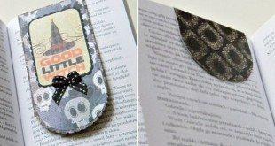 Este marcador de páginas com imã é diferente, mas lindo (Foto: srebrnaagrafka.pl)