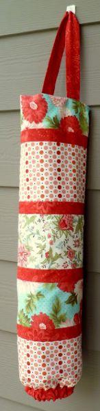 Faça já este colorido puxa-saco de tecido para também reaproveitar os retalhos que já tenha em casa (Foto: phatquartersfabric.com)