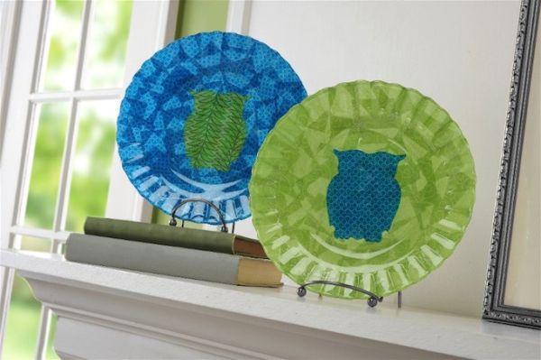 Invista já neste artesanato com pratos de vidro (Foto: modpodgerocksblog.com)