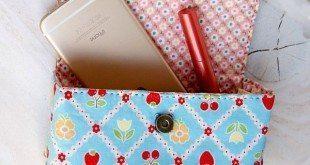 Esta linda bolsa de mão de tecido não é tão difícil de ser feita (Foto: handmadiya.com)