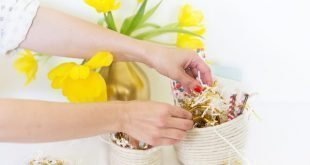 Esta cesta feita de barbante pode também ser colorida (Foto: ehow.com)