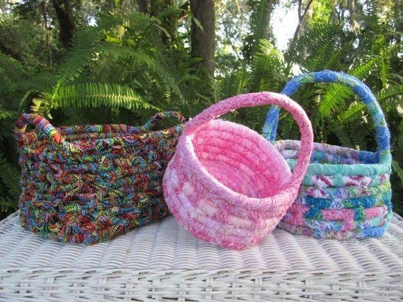 Cestas de corda e tecido são lindas (Foto: craftingmom.com)