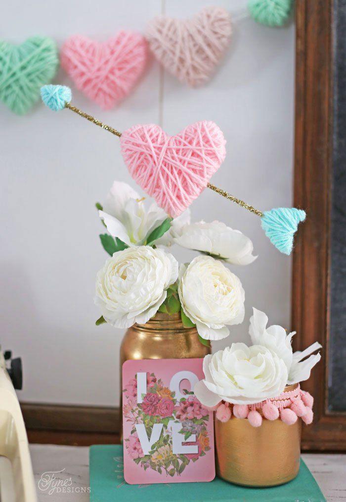 Coração decorativo para dia dos namorados é lindo e versátil (Foto: fynesdesigns.com)