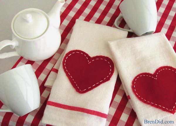 Invista já em pano de prato para dia dos namorados (Foto: brendid.com)