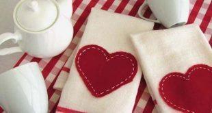 Pano de Prato para Dia dos Namorados Passo a Passo