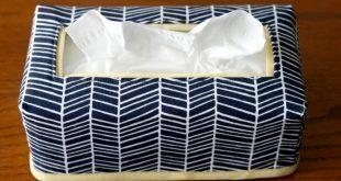 Porta lenço de papel além de lindo protege a embalagem (Foto: craftbuds.com)