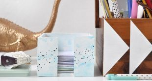 Porta-papel de argila organiza e decora (Foto: designsponge.com)