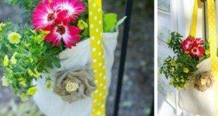 Sacola para flores pode também frequentar a parte interna da sua casa (Foto: andersruff.com)