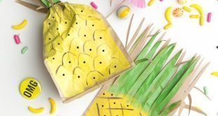 Este saquinho de papel decorado é lindo e diferente (Foto: thehousethatlarsbuilt.com)