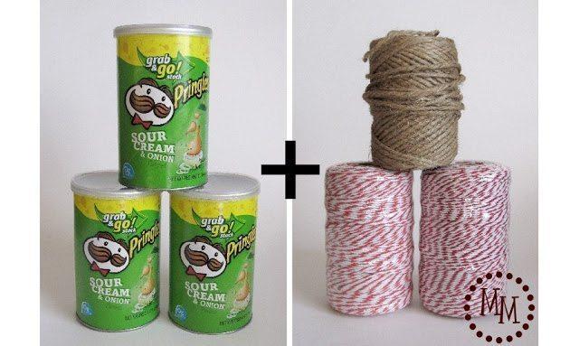 Artesanato com Pote de Pringles