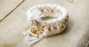 Ideia de Bracelete de Crochê