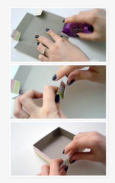 Caixa Simples de Papel Passo a Passo