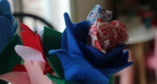 Flor de Pirulito Passo a Passo