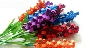 Flores de Papel Colorido Passo a Passo