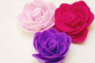 Aprenda como Fazer Rosas de Feltro Passo a Passo