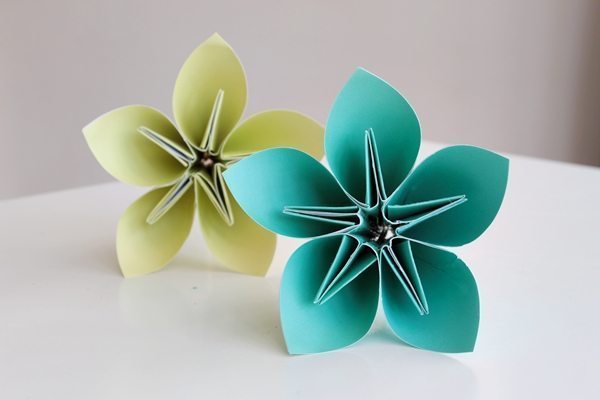 Como Fazer Buquê com Flores de Origami