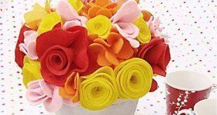 Flores de Feltro para Buquê Passo a Passo