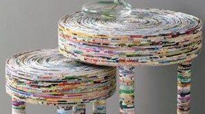 Ideias de Artesanatos com Jornal