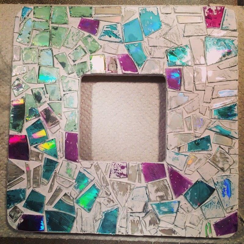 Sugestão de Mosaico de CD em Moldura