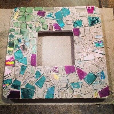 Mosaico de CD em Moldura