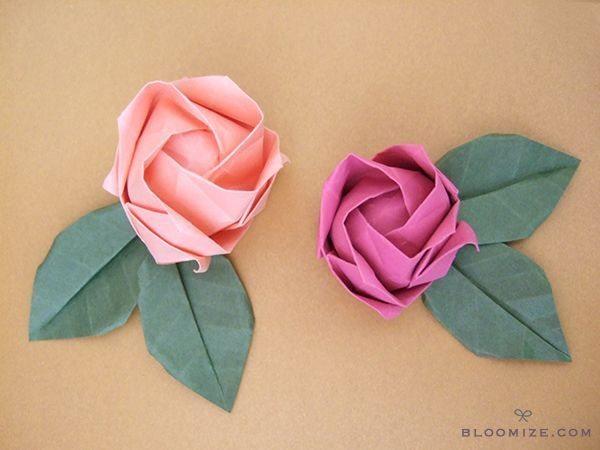 Dicas para Fazer Rosas de Origami