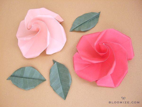Rosas de Origami