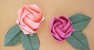 Rosas de Origami Passo a Passo