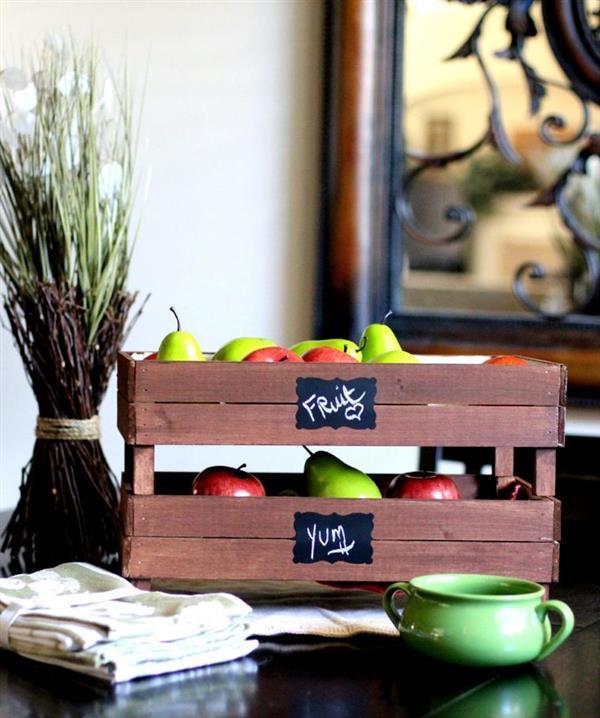 artesanato em caixa de madeira