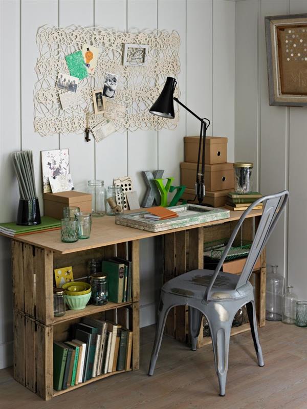 artesanato em madeira reciclada