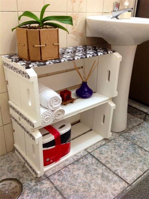 artesanato com caixote de frutas