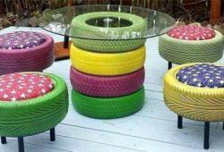 jogo de pneus com reciclagem