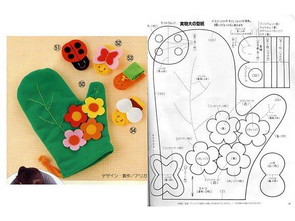 Artesanato Croche Historia ~ Artesanato em Tecido para Cozinha com Moldes