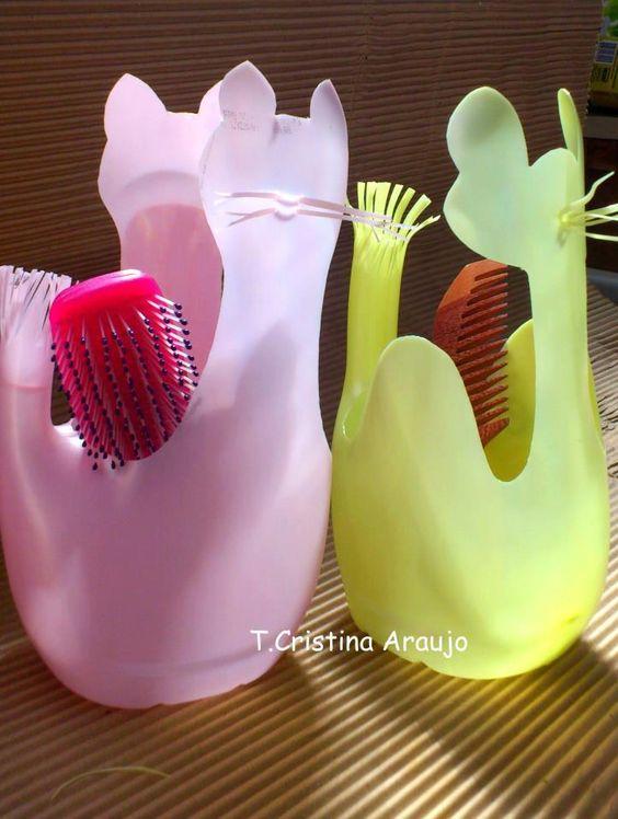 Artesanatos f ceis de fazer recicl veis artesanato passo - Manualidades con envases ...
