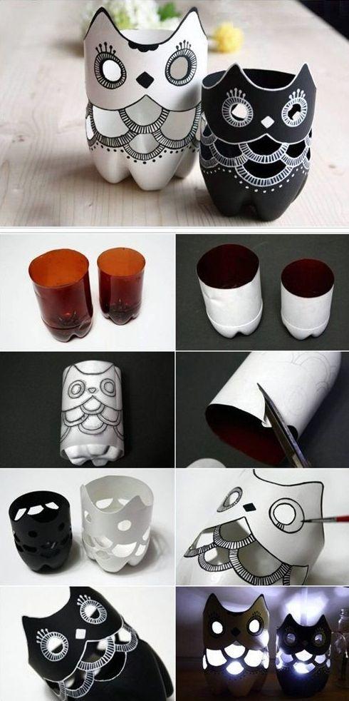 Artesanatos Feitos com Garrafa Pet